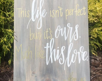This Life Home Decor Wall Sign - Collaboration with The Darling Moon