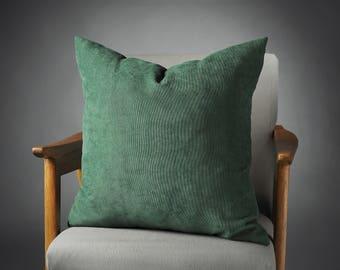 Dark Green Pillow, Dark Green Velvet Pillow, Dark Green Bed Pillow, Dark Green Pillow Cover, Dark Green Decorative Pillow, Sofa Pillow
