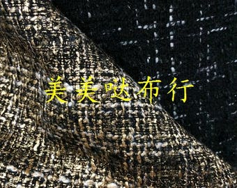 """free shipping bronzed golden linen weaved cotton and polyester tweed fabric by meter 59"""""""