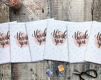 Thank You Card Set - Thank You Card Sets - Izzy and Pop - Thank You Cards - Notecard Set - Thank you notecards - polka dot cards