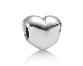 """Authentic Sterling Silver Pandora """"Big Smooth Heart"""" Charm #790137"""