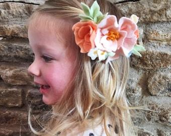 Flower Hair Clip //  Spring Flower Hair Crown // Newborn Photo Prop // Girls Headband // Flower Girl Gift