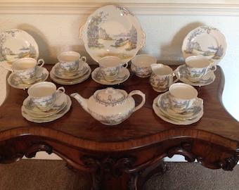 Royal Albert Rosedale 1920's tea set