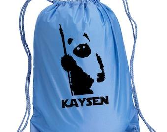 Disney Backpack,Ewok,Star Wars Inspired Bag,drawstring bag,Disney Bag,Ewok Day Bag,Disney bag,Wicket Drawstring bag