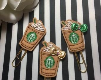 Starbucks frap paper clip, inspired starbucks planner clip, planner papeer clip, coffee paper clip, frap planner clip, planner accessories