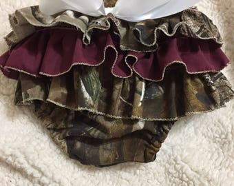 Camouflage Ruffled Diaper Cover