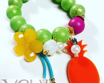 Wood and resin bracelet