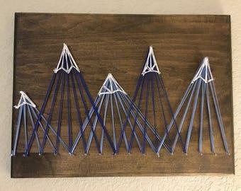 Mountain String Art | Nursery Decor | Cabin Decor | Home Decor