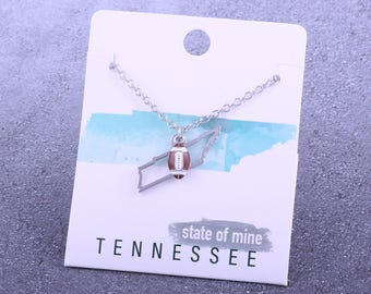 Customizable! State of Mine: Tennessee Football Enamel Necklace - Great Football Gift!