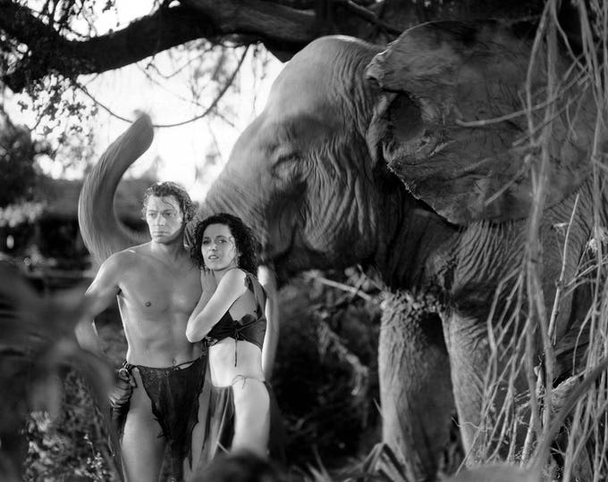 """Johnny Weissmuller and Maureen O'Sullivan in the Film """"Tarzan and His Mate"""" - 5X7, 8X10 or 11X14 Publicity Photo (AB-053)"""