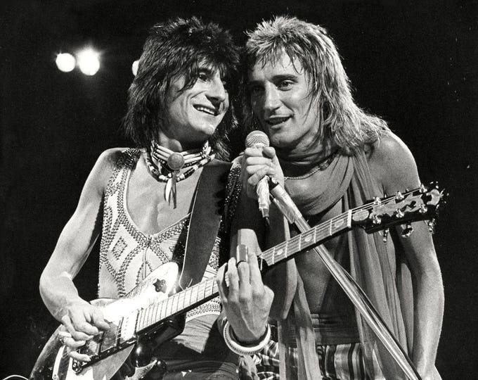 "Rod Stewart and Ron Wood From the Group ""Faces"" - 5X7, 8X10 or 11X14 Publicity Photo (AZ-160)"