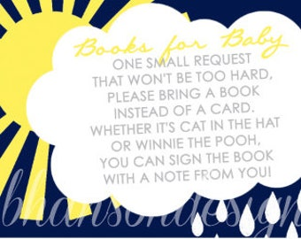 INSTANT DOWNLOAD Here Comes The Son - Baby Shower Book Request