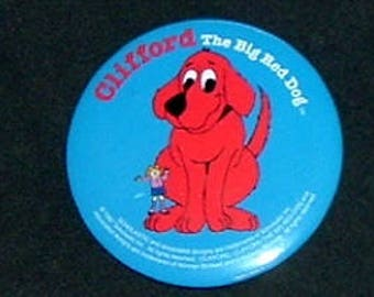 CLIFFORD The Big Red Dog Pin Back - 1997 (New)