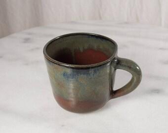 Rustic Mug - Burgundy/Gray