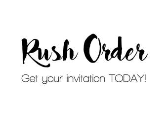 Rush Order - GET IT TODAY! - Add on