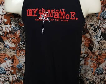 My Chemical Romance Tank Top Size Medium Thank You for the venom Damaged