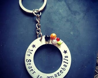 Fully personalised keychain