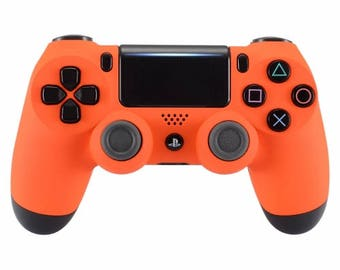 New Sony Playstation Dualshock PS4 Wireless Controller Custom Soft Touch Orange