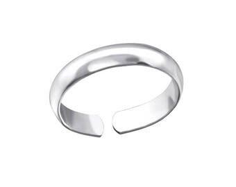 Silver Plain Toe Ring