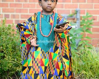Boys Agbada/Boy ankara/boy kente/agbada/African babyboy clothes/baby set/Newborn clothes/African clothing/Dashiki/baby african wear/african