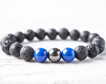 Black Blue Bracelet Yoga Bracelet Gay Boyfriend Bracelet Black Mens Bracelet Daddy Bracelet Cousin Bracelet Brother Bracelet Sister Bracelet