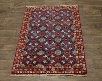 Lovely Floral Unique Small Varamin Persian Wool Rug Oriental Area Carpet 3X5