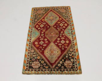 4X7 Unusual Design Vintage Tribal Shiraz Persia Rug Oriental Area Carpet 3'9X6'6