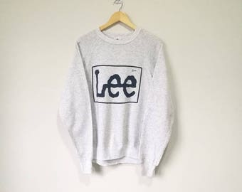 On Sale! Vintage 90s Lee Big Logo Spell Out Lee Jeans Lee Sweatshirt Made in Usa XL Size