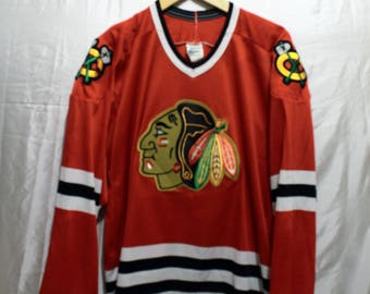 Vintage Chicago Blackhawks Hockey Jersey Large by CCM