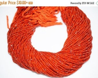 50% OFF AAA Quality Carnelian Cubic Zirconia Faceted Rondelle Beads 13 Inch Strand ,Carnelian CZ Beads, Carnelian Roundel Beads , 2.50 mm -