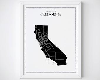 California map  Etsy