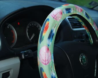 Colorful steering wheel Steering wheel covers Car accessories for woman Birthday gift for her Car accessory for woman Car decorations Decor
