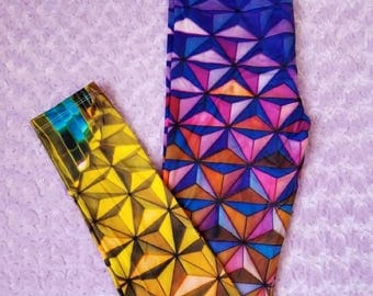 Disney Epcot Leggings //  Rainbow Spaceship Earth // Very Soft