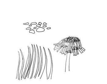 Glimpse - art print of an original drawing