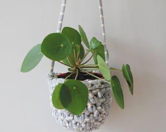 Crochet Hanging Pot Plant Holder