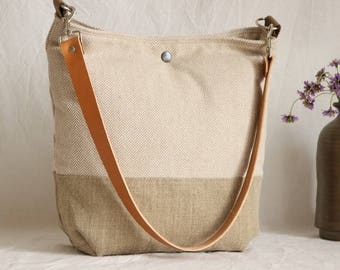 Shoulder bag jute + cotton