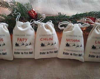Lot de 20 mini hottes de Noël à personnaliser - Marque place et déco de table à Noël