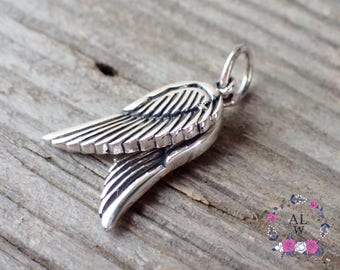 925 Sterling Silver Angel Wing Pendant Sterling Silver Wing Necklace