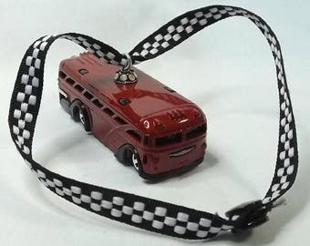 School City Bus - Free Shipping - Christmas Ornament - Rear view Mirror Bling - Hot Rod