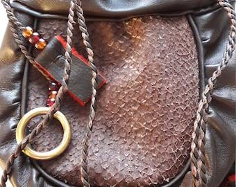 Handmade leatherbag!