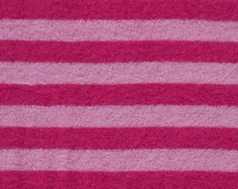 Bamboo / organic - horizontal stripes - Pink/Pink