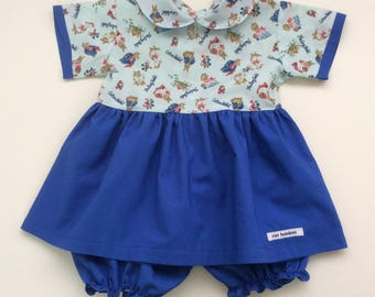 Girls' Top and Bloomer Set, Size 1, READY TO SHIP - DesignedByNormaAU