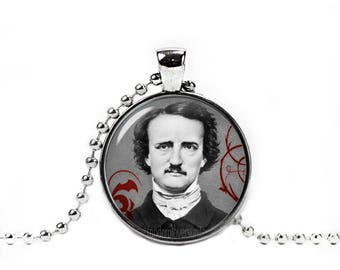 Edgar Allan Poe Necklace Edgar Allan Poe Pendant Gothic Necklace Nevermore Pendant Edgar Allan Poe Jewelry