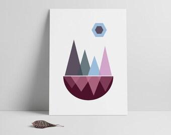 Modern Geometric Art, Minimalist Art, Instant Download, Wall Art Print, Affiche Scandinave, Minimal Art, Nordic Wall Art Printable