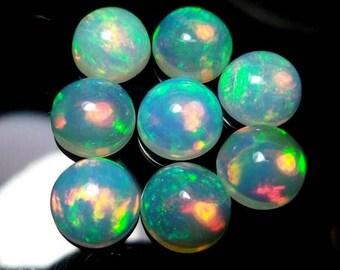 10 pcs Lot 6mm ETHIOPIAN OPAL Cabochon Round Gemstone AAA Natural Ethiopian opal round cabochon loose gemstone - 6mm Opal Cabochon Round