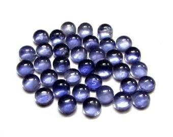 10 pieces 6mm Blue IOLITE Cabochon Round Gemstone, 6mm Iolite Round Cabochon Gemstone, Natural Blue Iolite Cabochon Round Loose Gemstone