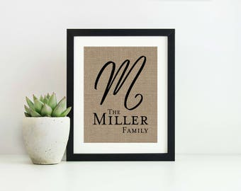 Last Name Established Sign- Last Name Sign- Wedding Gift for Couple- Family Name Signs- Family Established Name Sign- 5th Anniversary Gift
