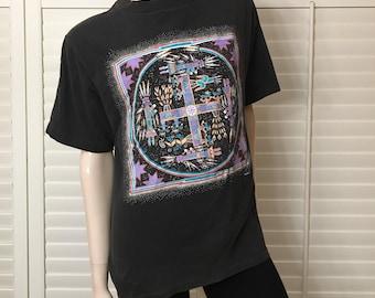1991 Native Print T-shirt