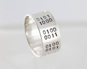 Band Ring - Binary Code