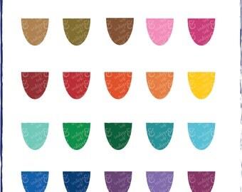 Scallop Shapes Digital Download Clipart